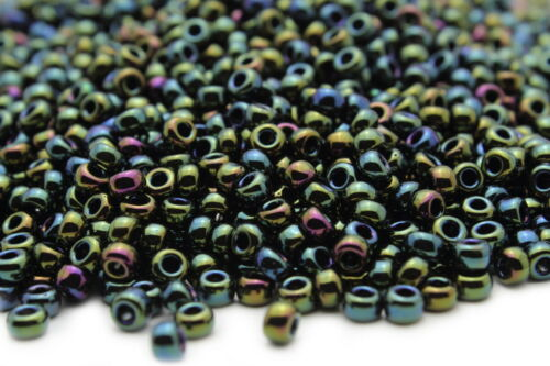 Miyuki Round Rocailles 6//0 Metallic Green Iris Seed Beads RR-453