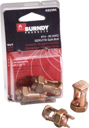 Burndy Split Bolt Connector Ul 2 Awg Clamshell 2 Clamshell