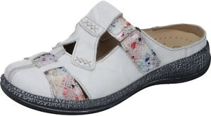 Comfortabel Schuhe Neu Pantolette Damen Weiß Leder 0OknP8w