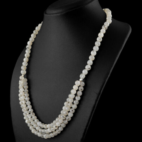 Best Offer 322.00 Cts Natural Rutile Quartz Round Beads Single Strand Necklace