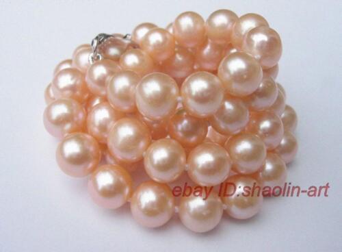 7-8mm,rose perles d/'eau douce,collier 42cm