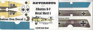 Albatros-D-V-Deutscher-Jaeger-WW-1-Decal-Set-von-Schleich-Jasta-21-1-72