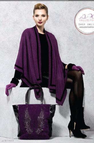 Lady's negro negro Hat Violet violeta artículos Of Gift Maggie Wrap 2 Set rUwSzqrxHB
