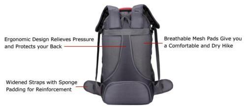 60L Large Waterproof Hiking Camping Bag Travel Backpack Outdoor Luggage Rucksack