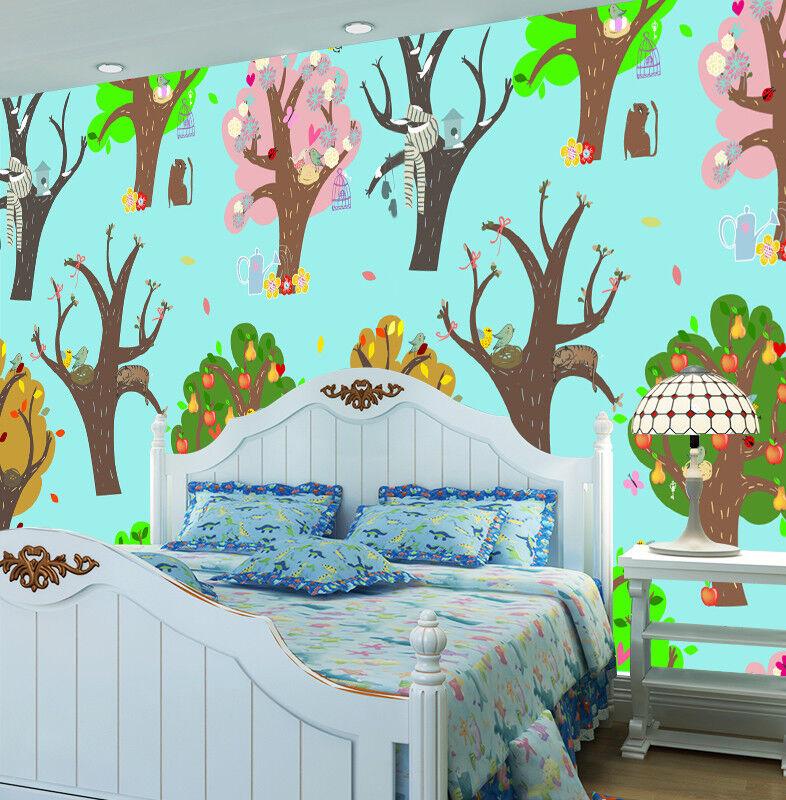 3D Anime Trees 43 Wallpaper Murals Wall Print Wallpaper Mural AJ WALL AU Lemon