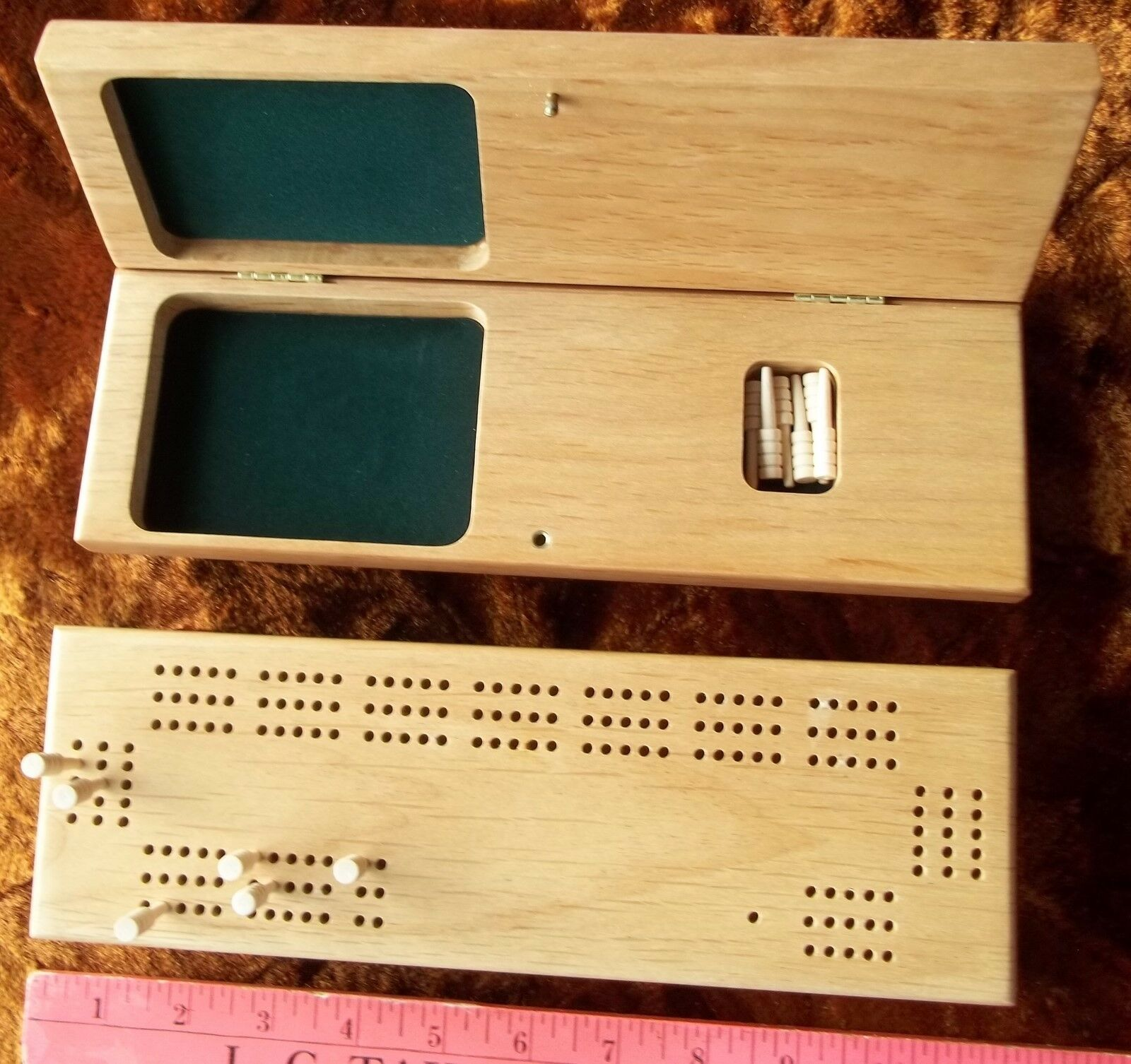 Lote de 49 Placas De Madera Cribbage 3 pistas con clavijas de madera NUEVO