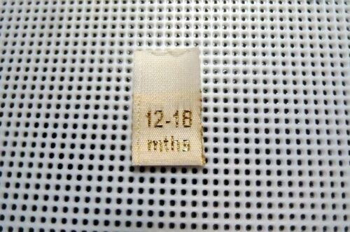 3-24 Months Baby//Toddler Clothing Labels Cream Woven Gold Text