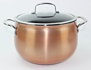 Image Is Loading Belgique 8 Quart Nonstick Aluminum Dutch Oven Copper