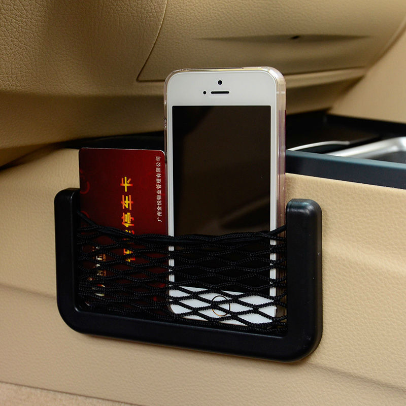Car Interior Door Edge Black Elastic Net Storage Phone Card Pen Organizer Holder 600819123695 | eBay