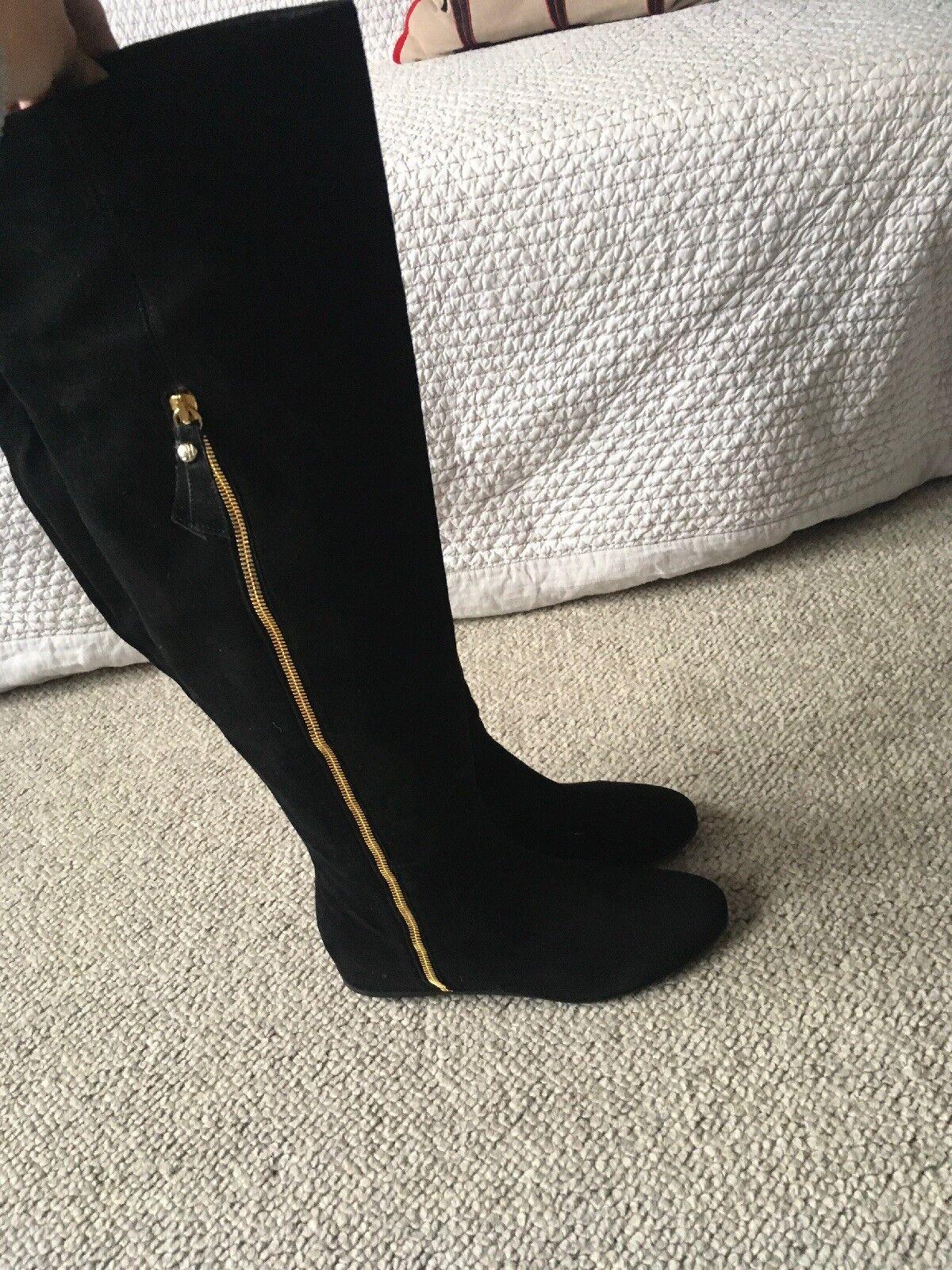 Stuart Weitzman Suede Womens Knee Length Boots Size 5UK 38