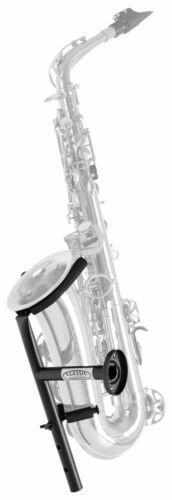 Nützlicher Wand-Saxophonhalter für die Wandmontage in schwarz für Alt und Tenor