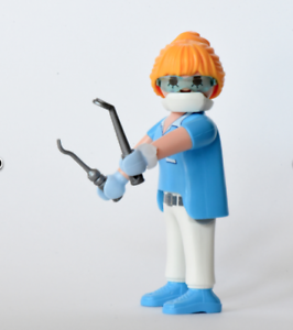PLAYMOBIL Series 14 Female Figure 9444 DENTIST DENTAL TECHNICIAN NEW