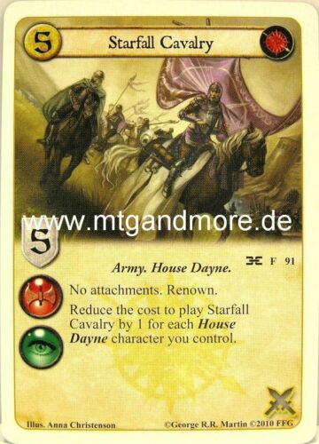 Mask of the Archmaester 1x Starfall Cavalry  #091 A Game of Thrones