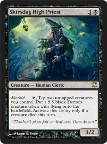 Black Rare ISD Innistrad 2x MTG: Skirsdah High Priest Magic Card