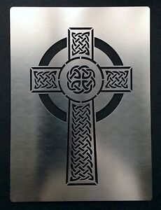 Image Is Loading Celtic Cross Stainless Steel Metal Stencil Template Craft
