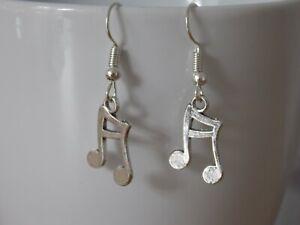 Tibetan Silver Musical notes earrings