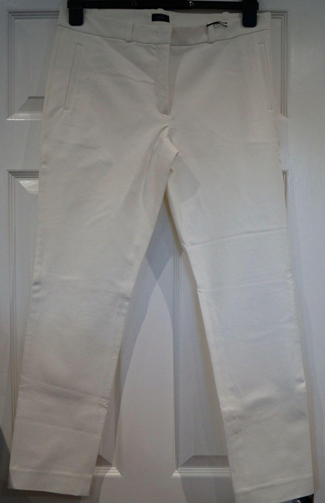 JOSEPH Winter White ELISTON GABARDINE STRETCH Capri Trousers Pants 40 UK12 BNWT