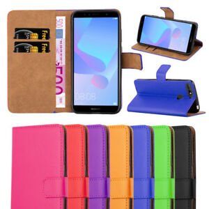 Cell Phone Accessories Case For Huawei Y6 2018 Phone Luxury Leather Magnetic Flip Wallet Stand Cover
