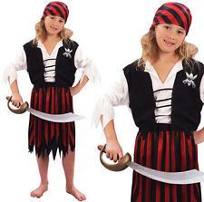 Childrens Chica Piratas Del Caribe Disfraz Bucanner Niños L