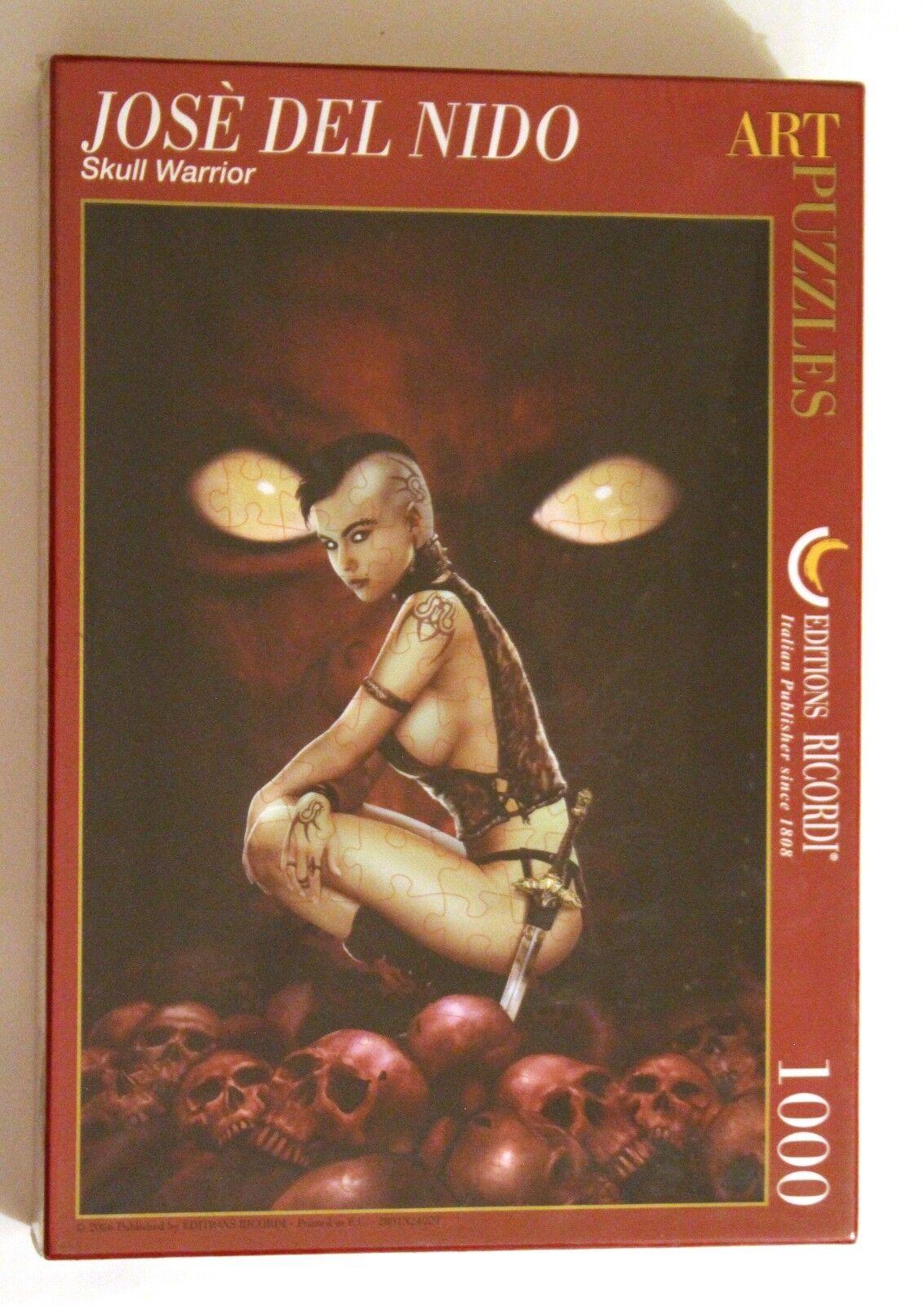 2010 ediziones Ricordi SKULL WARRIOR Puzzle JOSÉ DEL  NIDO 1000 pcs SEALED & rare  seleziona tra le nuove marche come