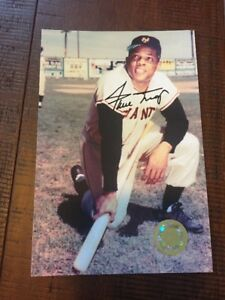 Willie-Mays-Autograph-Photo-4x6-COA-HOF-New-York-Giants-HOF-OF-Signed-FREE-SHIP