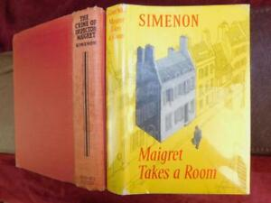 GEORGES-SIMENON-CRIME-of-INSPECTOR-MAIGRET-amp-MAIGRET-TAKES-A-ROOM-2-BOOKS-1932