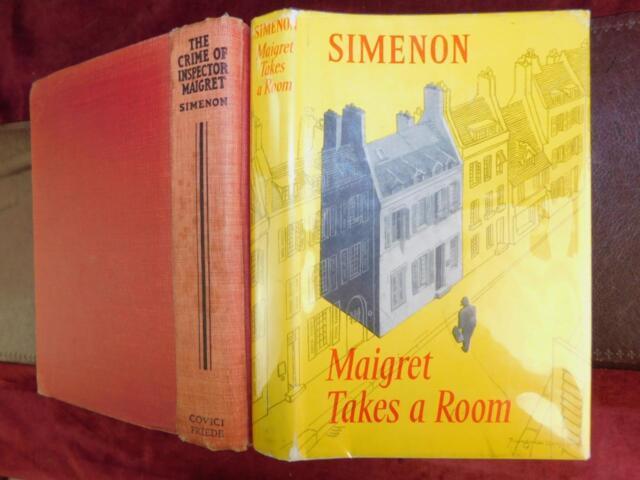 GEORGES SIMENON: CRIME of INSPECTOR MAIGRET & MAIGRET TAKES A ROOM/2 BOOKS/1932