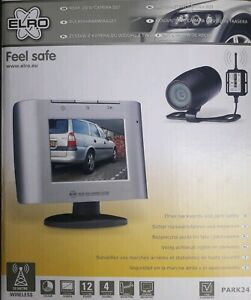 ELRO Park 24 Feel Safe kabelloses Rückfahrkamera Set Funk Einparkkamera Monitor