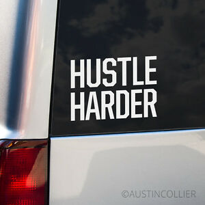 HUSTLE-HARDER-Vinyl-Decal-Car-Laptop-Sticker-Motivational-Inspirational-Phrase