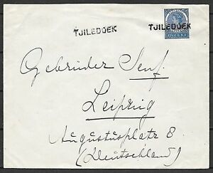 Netherlands Indies covers 1909 cover TJILEDOEK to Leipzig