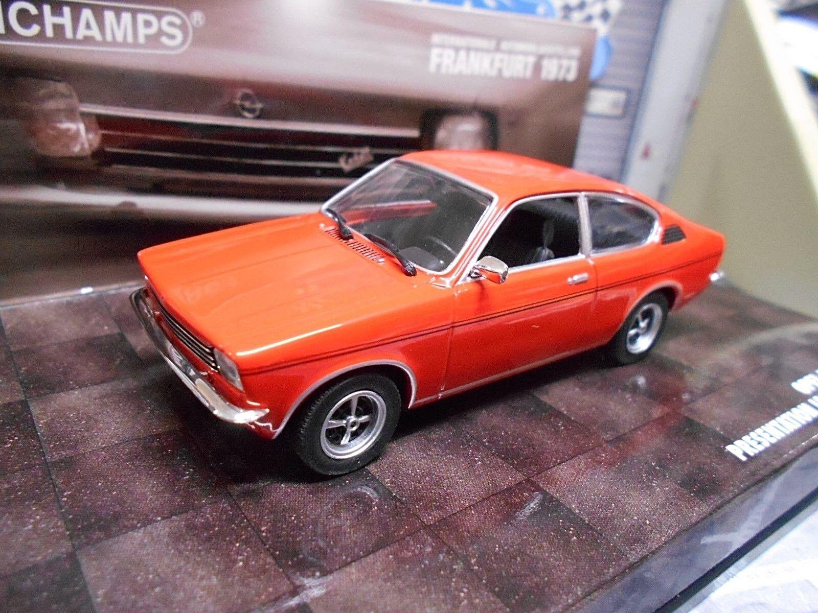 varios tamaños Opel C Kadett Coupe Coupe Coupe Hell rojo rojo ΑΙΑ Frankfurt 1973 presentación Minichamps 1 43  mejor calidad