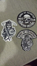 New Sons Of Anarchy S.O.A. Reaper # 2 Logo & Redwood Stickers Biker Samcro FX