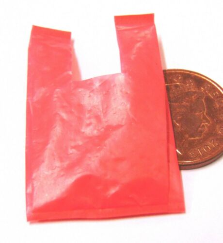 Échelle 1:12 1 vide en plastique rouge Transporteur Sac tumdee Maison de Poupées Accessoire