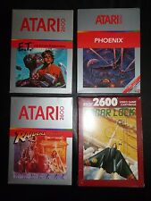 Atari 2600 Lot ET, Raiders Lost Ark, Phoenix, Radar Lock + Free Controller