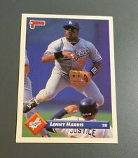 DAVE DAVID JUSTICE appearing on 1993 Donruss Lenny Harris Card # 590