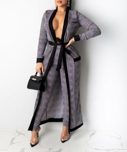 Women/'s Cardigan /& leggings Set Sale! Black /& White plaid