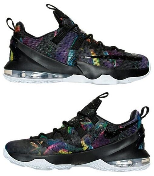 NIKE LEBRON XIII LOW Hommes BASKETBALL Noir - COSMIC PURPLE blanc - blanc PURPLE NEW IN BOX 3e2e17