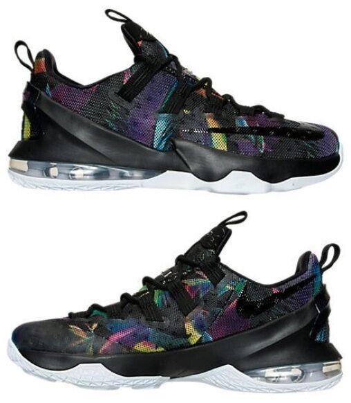Nike lebron xiii basso maschile di basket viola - nero - bianco di nuovo nella scatola cosmica.