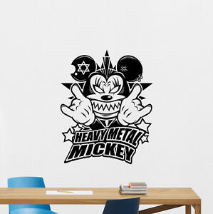 Image Is Loading Heavy Metal Mickey Mouse Wall Decal Rock Music