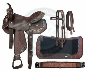 Beautiful-Synthetic-Western-Barrel-Racing-Horse-Saddle-Tack-Size-14-to-18