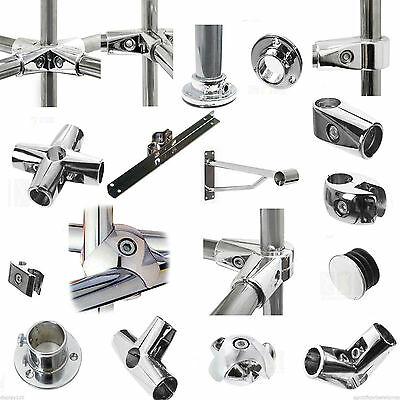 5//6 Way Tube /& Clamp Fittings From Chrome Tube Clothes Hanging Storage Rail