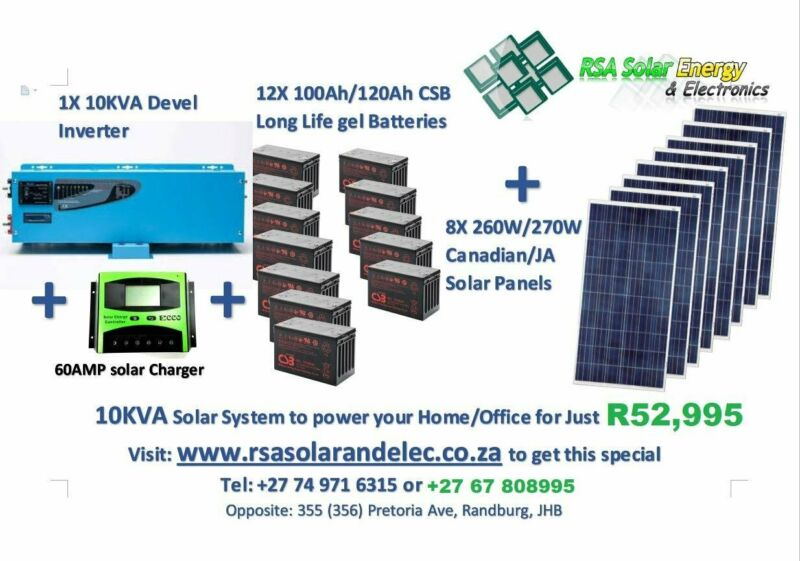 10KVA SOLAR SYSTEMS PACKAGES TO POWER YOUR HOME or OFFICE