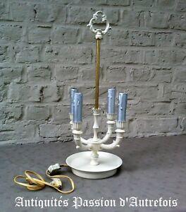 Raisonnable B2018363 - Lampe Bouillotte 4 Feux - Repeinte Couleur Crème - Fonctionne