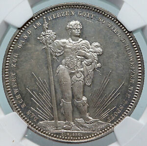 1879-SWITZERLAND-Basel-ANTIQUE-SHOOTING-FESTIVAL-Swiss-Silver-5F-Coin-NGC-i85273