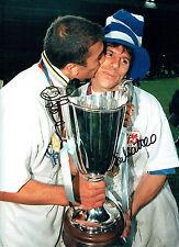 Gianfranco ZOLA & Roberto Di MATTEO Signed Autograph 16x12 Photo AFTAL Chelsea