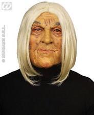 Miedo Viejo Máscara Con Pelo Blanco líder tribal de Disfraces De Halloween