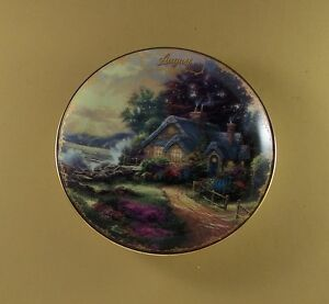 Thomas-Kinkade-039-s-Simpler-Times-AUGUST-A-NEW-DAY-DAWNING-Plate-9-Calendar