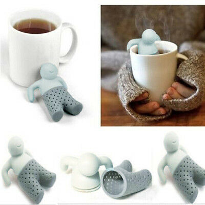 Mr.Tea Infuser Silicone Tea Leaf Strainer Herbal Spice Filter Diffuser Cute Gift