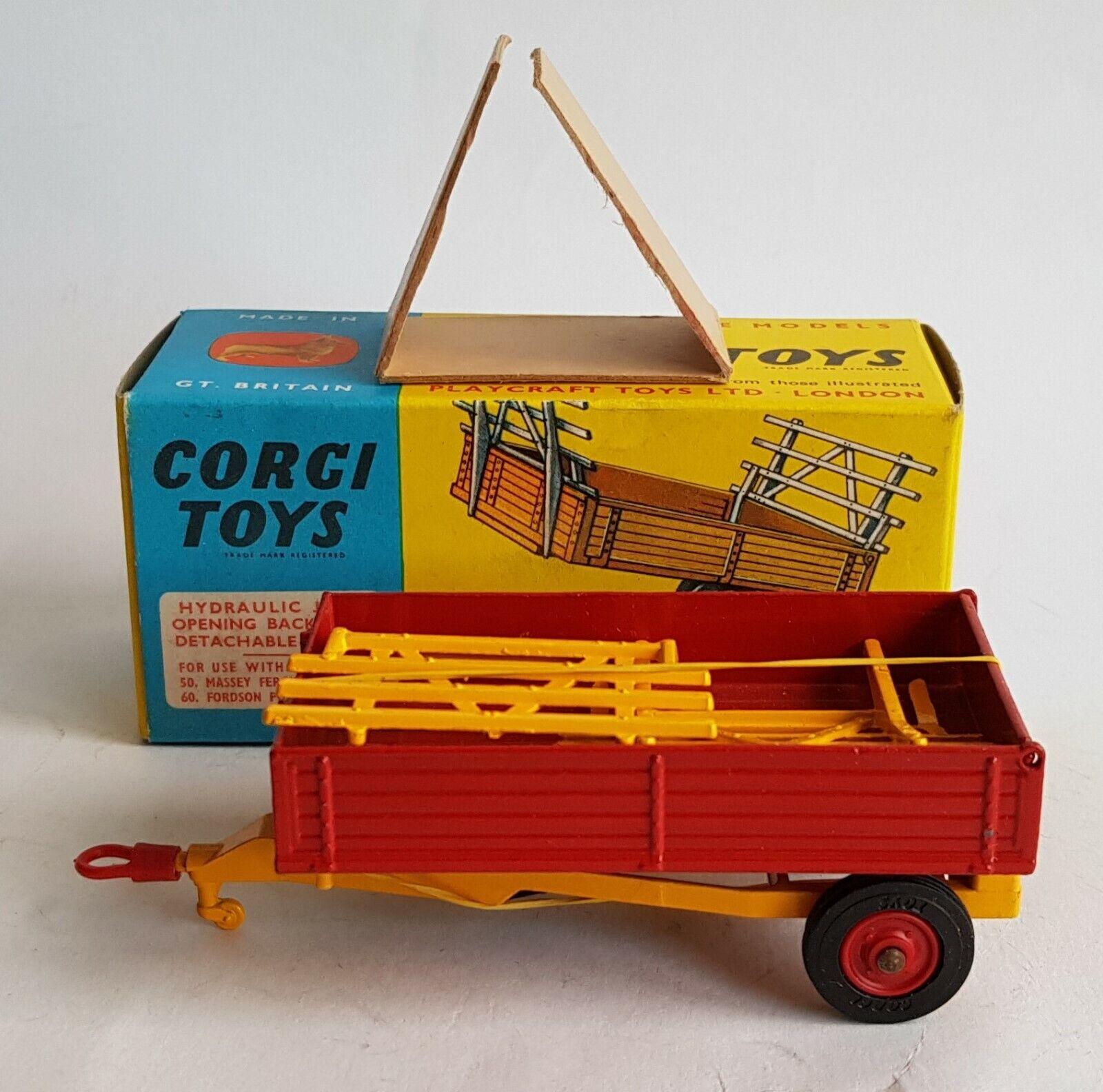 Corgi Toys 62, Farm Tipper Trailer, with Plastic Hook, - Superb Mint Condition.