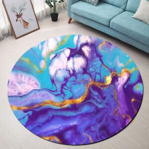 Abstract Purple Marble Texture Area Rugs Bedroom Living Room Round Floor Mat Rug Ebay